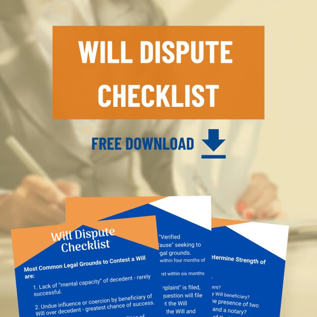 Will Dispute Checklist