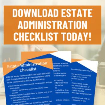 Estate Administration Checklist Image